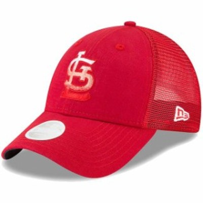 New Era ニュー エラ スポーツ用品  New Era St. Louis Cardinals Womens Red Faded Front Trucker 9FORTY Adjustable Snapba