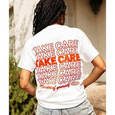 ペタルズ アンド ピーコック PETALS AND PEACOCKS レディース Tシャツ トップス Petals and Peacocks Take Care Of Yourself White T-Shirt White