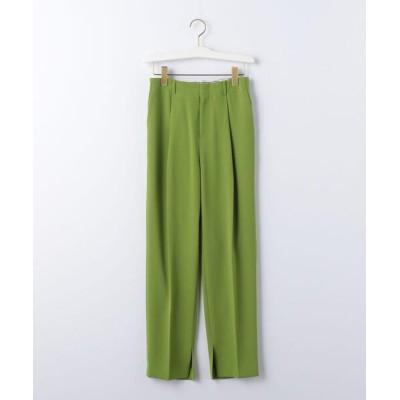 green label relaxing / 『BRACTMENT(ブラクトメント)』 BM 裾スリット プレスト タックパンツ WOMEN パンツ > スラックス