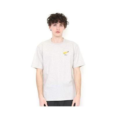 (グラニフ) graniph 刺繍 Tシャツ/フライング エビフライ (ヘザーナチュラル) メンズ レディース S (g100) (g107)