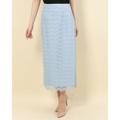 アルシーヴ archives レースロングタイトスカート (BLUE)