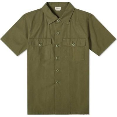 マハリシ Maharishi メンズ 半袖シャツ トップス Modified Utility Shirt Olive