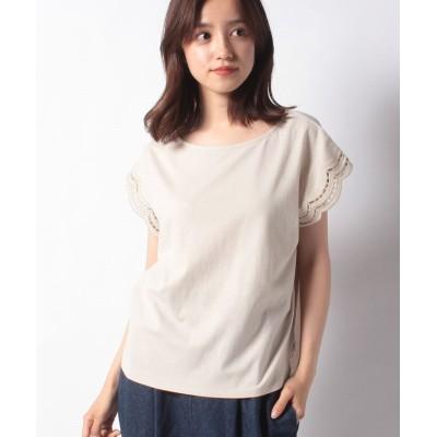 【メルローズ クレール】 Tシャツ レディース ライト ベージュ F MELROSE Claire