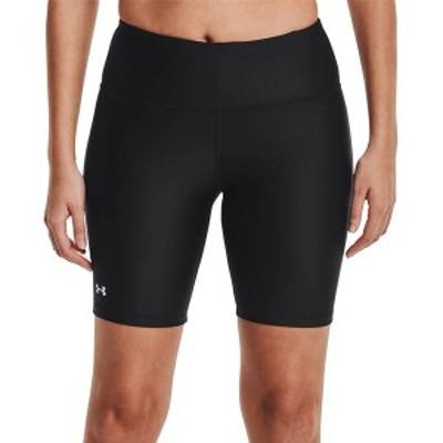 アンダーアーマー レディース ハーフパンツ・ショーツ ボトムス Under Armour Women's HeatGear Armour Bike Shorts Black