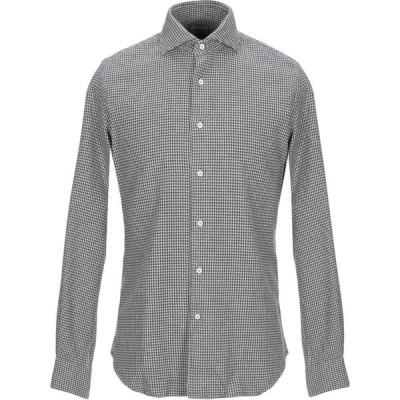 ザカス XACUS メンズ シャツ トップス patterned shirt Dark brown