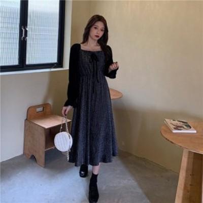大きいサイズ秋冬新作 韓国 レディース ファッションワンピース3L 4L 5L || レディースアパレル ドレス