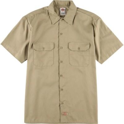 ディッキーズ Dickies 半袖 ワークシャツ メンズL /eaa029972