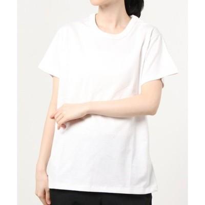 tシャツ Tシャツ WEGO/コットンジャストフィット半袖Tシャツ