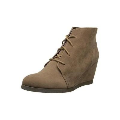マッデンガール ブーツ シューズ 靴 Madden Girl 1063 レディース Domain Taupe Microスエード ブーティーs ウエッジ ブーツ シューズ 6 BHFO