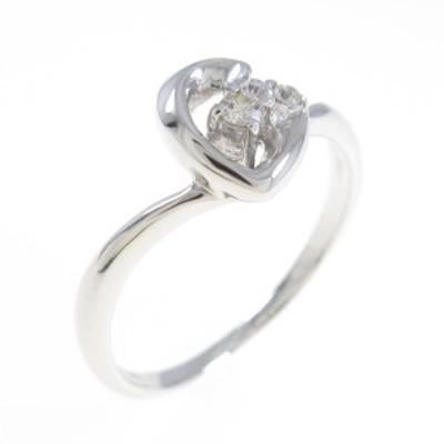 【中古品】K18WG ダイヤモンドリング