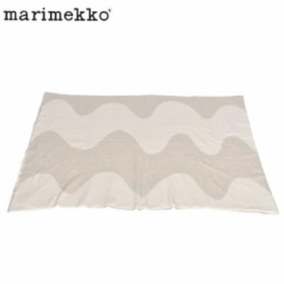 マリメッコ ひざ掛け ブランケット ホワイト 白 ベージュ MARIMEKKO 70883-183 寒さ対策 おしゃれ かわいい 北欧 シンプル ブランド 定番