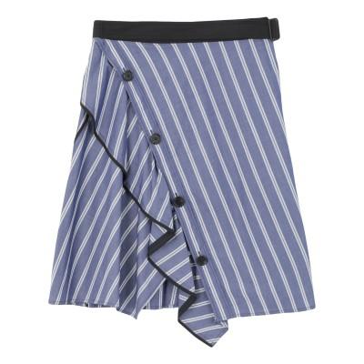 プロエンザスクーラー PROENZA SCHOULER ひざ丈スカート パープル 0 コットン 100% ひざ丈スカート