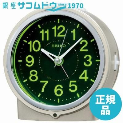 SEIKO CLOCK セイコー クロック 時計 自動点灯集光文字板アナログ目覚まし時計(薄金) KR886G [4517228034299-KR886G]