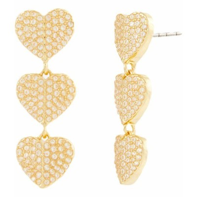 ケイト スペード ピアス&イヤリング アクセサリー レディース Heart To Heart Earrings Clear/Gold