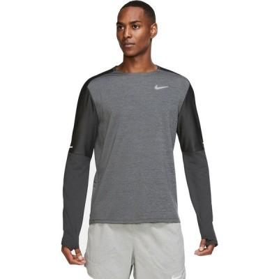 ナイキ Nike メンズ トップス Dri - Fit Element Crew Shirt Dk Smoke Grey/Black/Reflective Silv