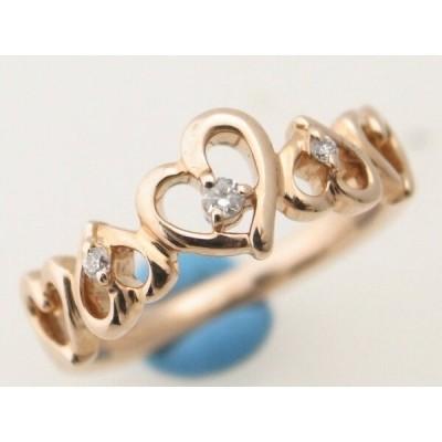 4℃ ダイヤモンドリング K10PG(10金 ピンクゴールド) 9.5号 指輪 ハート 質屋出品