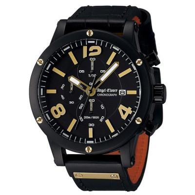 1000円OFFクーポン有り!10/1(金)まで!エンジェルクローバー 腕時計 エクスベンチャー メンズ クロノグラフ ブラック/ゴールド EVC46BBK-BK