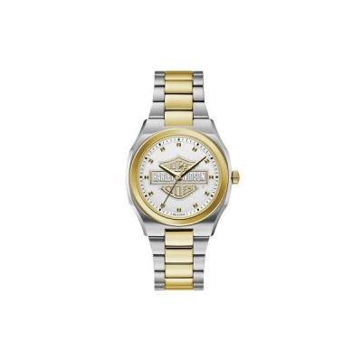 腕時計 ハーレーダビッドソン Harley-Davidson Women's Bar & Shield Silver & Gold Stainless Steel Watch 78L129
