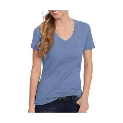 レディース 衣類 トップス Hanes Women's Nano-T V-Neck T-Shirt グラフィックティー