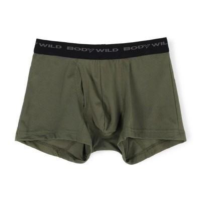 グンゼ株式会社 メンズ BODY WILD 紳士 メッシュ ボクサーブリーフ 前あき カーキー M