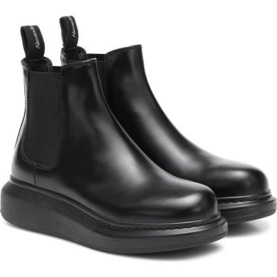 アレキサンダー マックイーン Alexander McQueen レディース ブーツ チェルシーブーツ シューズ・靴 leather chelsea boots Black/Black/Black