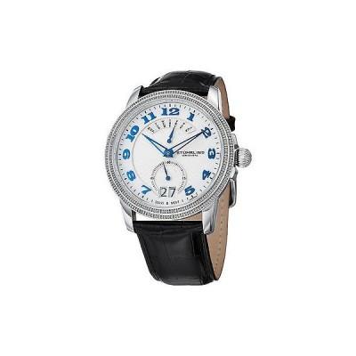ストゥーリングオリジナル腕時計Stuhrling Original メンズ 788.01 Classique スイス クォーツ ブラック レザー ストラップ 腕時計