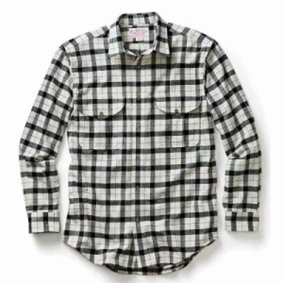 フィルソン シャツ Filson Alaskan Guide Shirt Cream / Black Plaid S17