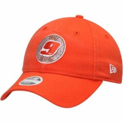 New Era ニュー エラ スポーツ用品  New Era Chase Elliott Womens Orange 9TWENTY Sparkle Adjustable Hat
