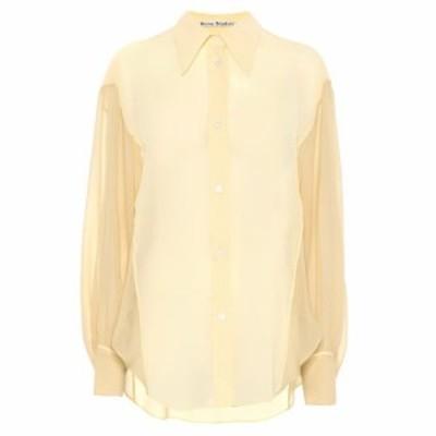 アクネ ストゥディオズ Acne Studios レディース ブラウス・シャツ トップス Crepe chiffon shirt Vanilla Yellow