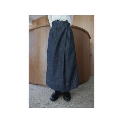 AFTERMONDAY レディース スカート calm diagonal cotton skirt