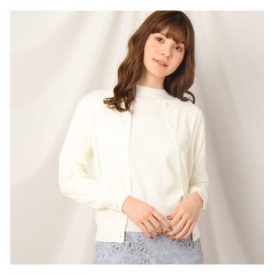 【クチュール ブローチ/Couture brooch】 シルク混カーディガン