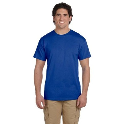 ユニセックス 衣類 トップス The Hanes 52 oz 50/50 EcoSmart T-Shirt - DEEP ROYAL - S Tシャツ