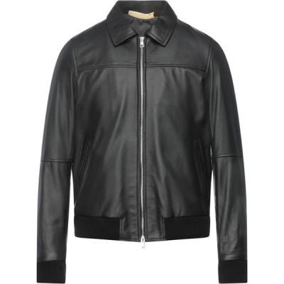 ガッザリーニ GAZZARRINI メンズ レザージャケット ライダース アウター Biker Jacket Black