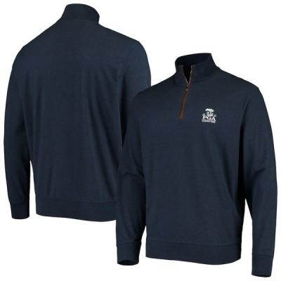 メンズ ジャケット 2020 PGA Championship Polo Ralph Lauren Terry Half-Zip Pullover Jacket - Navy