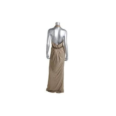 ドレス ワンピース Hoaglund Hoaglund 1705 レディース ゴールド メタリック Halter Formal ドレス 8 BHFO