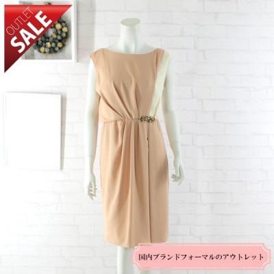 66%OFF 日本製 結婚式 二次会 ドレス バイカラービジューポイントドレス9号(オレンジ)