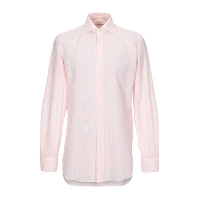 HILL MAN シャツ ライトピンク 40 コットン 70% / 麻 30% シャツ