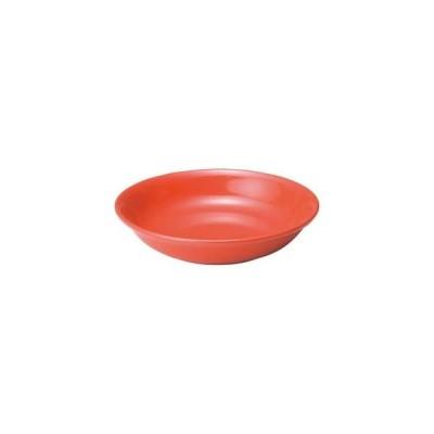 カ655-337 アジアン(黒・赤) 赤14cm深皿