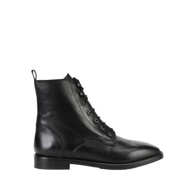 8 by YOOX ショートブーツ ブラック 41 牛革(カーフ) 100% ショートブーツ