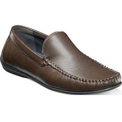 ノンブッシュ メンズ ドレスシューズ シューズ Quail Valley Venetian Slip On Brown Faux Leather