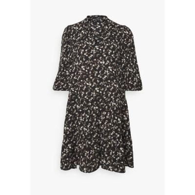 ヴェロモーダ ワンピース レディース トップス VMZIGGA V-NECK SHORT DRESS  - Day dress - black