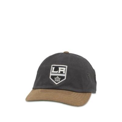 アメリカンニードル メンズ 帽子 アクセサリー NHL LA Kings Slouch Baseball Cap CHARCOAL