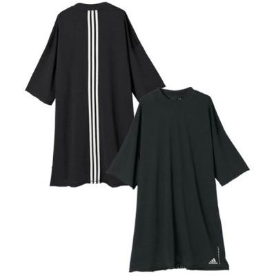 (Ranan/ラナン)〈adidas〉リサイクルコットンTシャツ/レディース ブラック