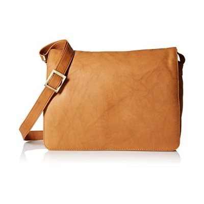 Visconti Womens Large Leather Flap-Over Shoulder/Crossbody Messenger Bag, Sand【並行輸入品】