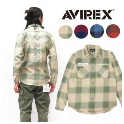 AVIREX アビレックス 長袖 ネーヴァル ライト ネルシャツ NAVAL LIGHT NELL SHIRT AVI6105139