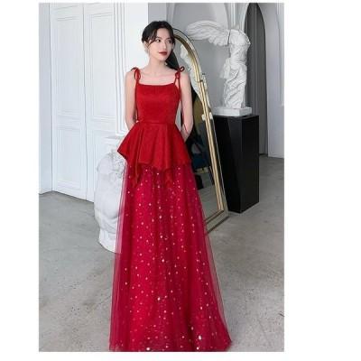 ロングドレス ナイトドレス ウエディングドレス aラインワンピース パーディードレス 大人 セクシー 結婚式 二次会 舞台用 披露宴 演奏会 発表会 ピアノ 成人式