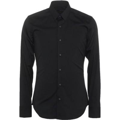 ザカス XACUS メンズ シャツ トップス solid color shirt Black