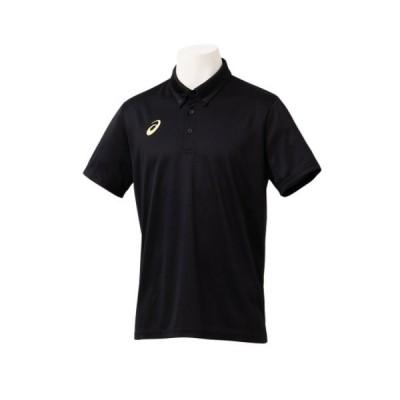 アシックス asics SAボタンダウンポロシャツ 半袖ポロシャツ 2031C229-001(パフォーマンスブラック)