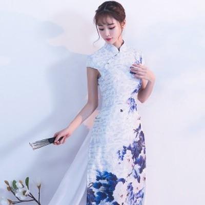 送料無料 2021年新作 アオザイ ベトナム民族衣装 ワンピース ロングナドレス パーティー Ao Dai 二次会 演奏会 同窓会 キャバドレス 結婚