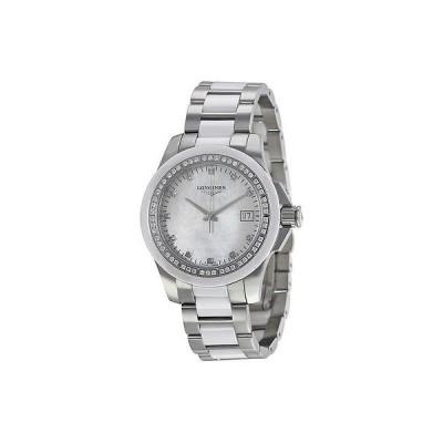 ロンジン 腕時計 Longines Conquest ホワイト セラミック ダイヤモンド レディース 腕時計 L32810877
